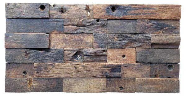 Dřevěná lodní mozaika  - obkladová dlaždice 60 x 30 cm_model SHW 6253 1