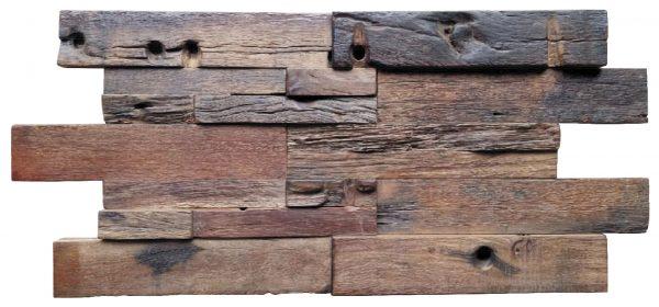 Dřevěná lodní mozaika - obkladová dlaždice 60 x 30 cm_model SHW 6254T 1