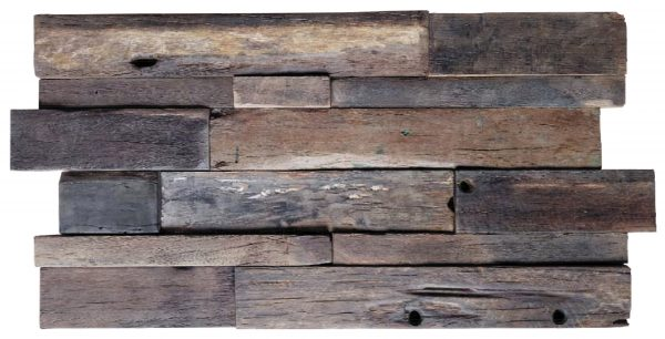 Dřevěná lodní mozaika - obkladová dlaždice 60 x 30 cm_model SHW 6280T 1