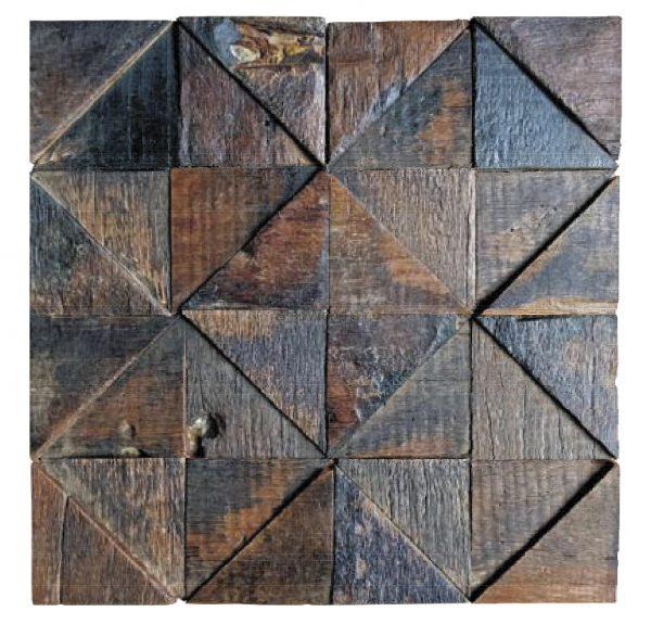 Dřevěná lodní mozaika  - obkladová dlaždice 30 x 30 cm_model SHW 3239 1
