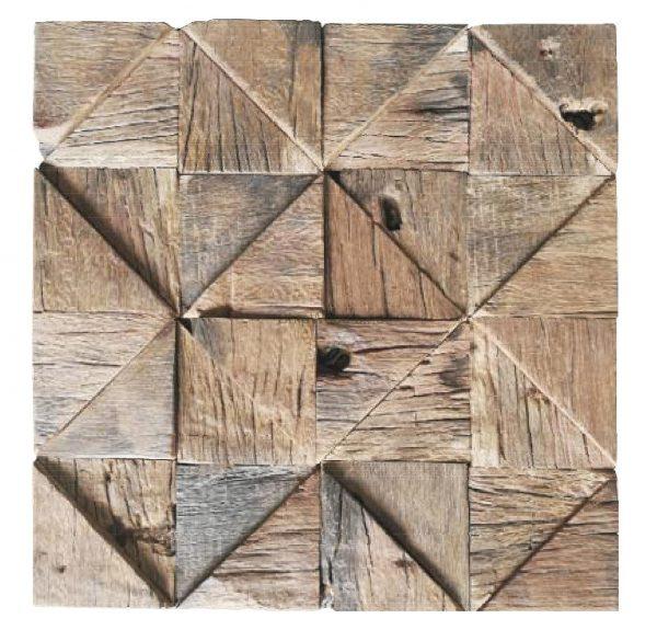 Dřevěná lodní mozaika - obkladová dlaždice 30 x 30 cm_model SHW 3240 1