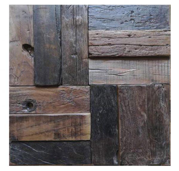 Dřevěná lodní mozaika  - obkladová dlaždice 30 x 30 cm_model SHW 3268 1