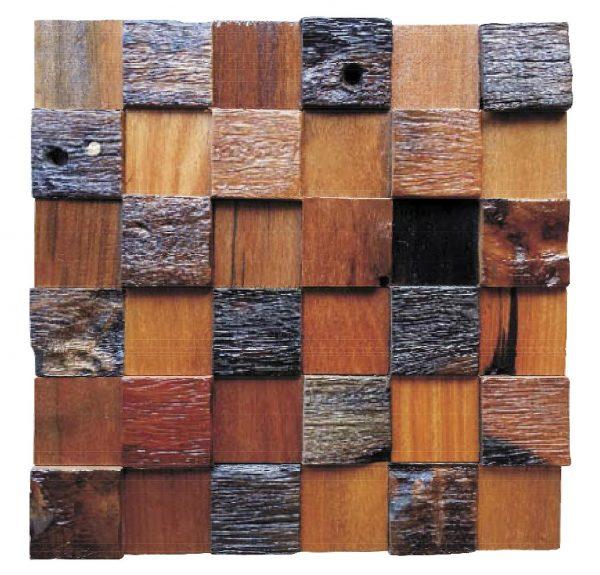 Dřevěná lodní mozaika - obkladová dlaždice 30 x 30 cm_model SHW 3241 1