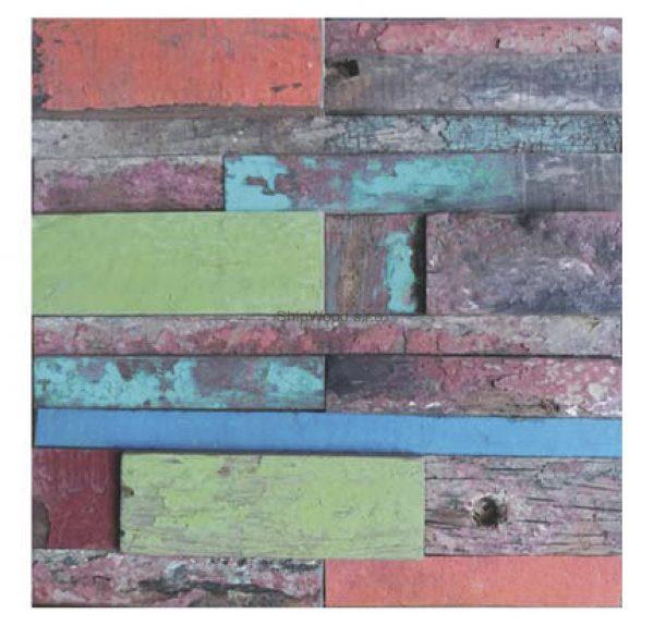 Dřevěná lodní mozaika - obkladová dlaždice 30 x 30 cm_model SHW 3242 1