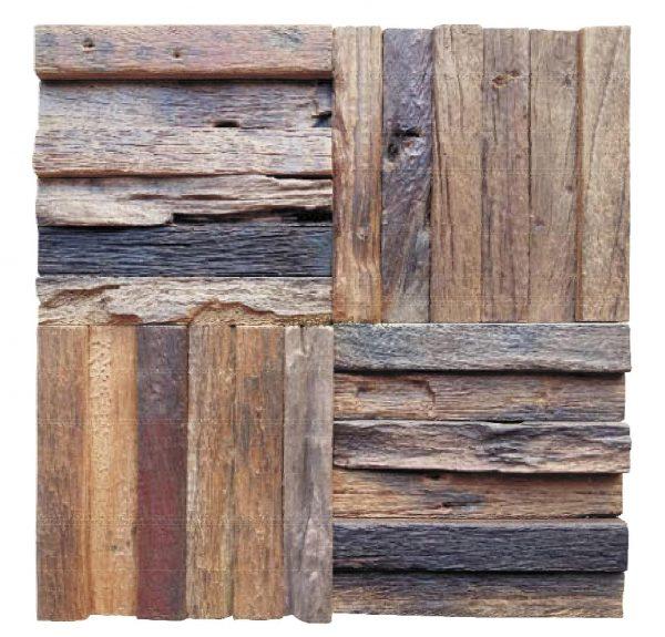 Dřevěná lodní mozaika - obkladová dlaždice 30 x 30 cm_model SHW 3243 1