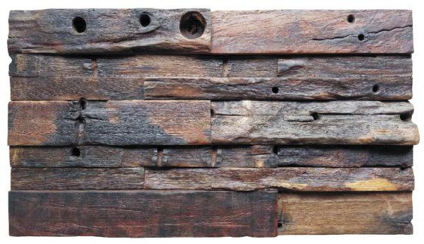 Dřevěná lodní mozaika - obkladová dlaždice 60 x 30 cm_model SHW 6278 1