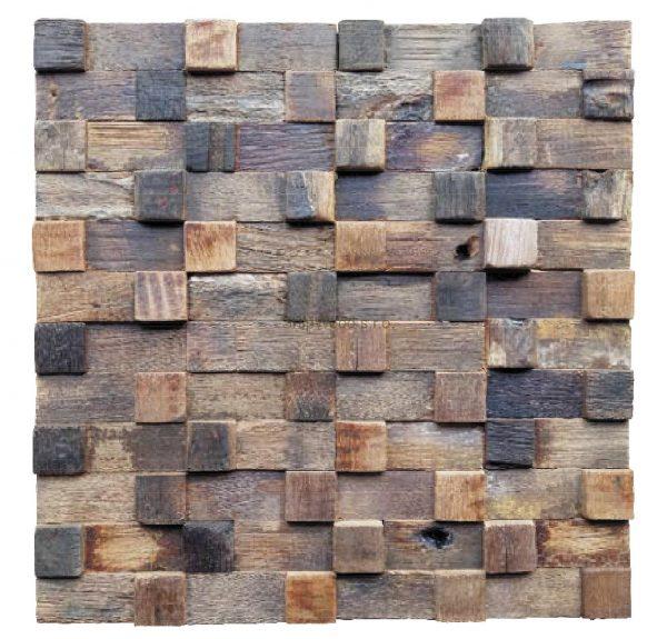 Dřevěná lodní mozaika - obkladová dlaždice 30 x 30 cm_model SHW 3232 1