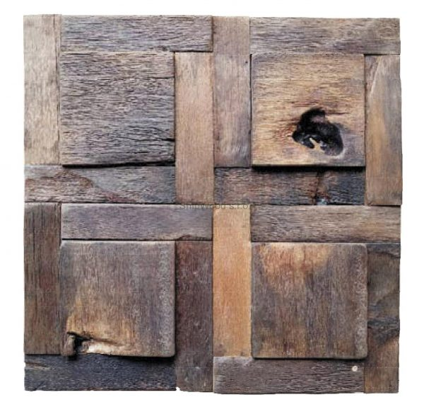 Dřevěná lodní mozaika  - obkladová dlaždice 30 x 30 cm_model SHW 3266 1