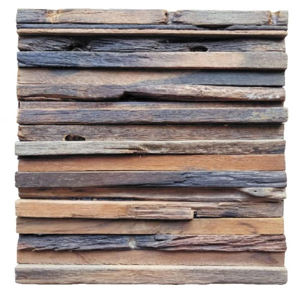 Dřevěná lodní mozaika - obkladová dlaždice 30 x 30 cm_model SHW 3265 1