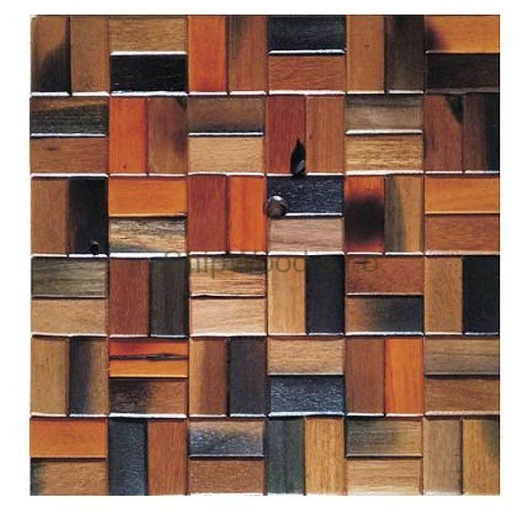 Dřevěná lodní mozaika - obkladová dlaždice 30 x 30 cm_model SHW 3120 1