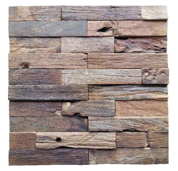 Dřevěná lodní mozaika - obkladová dlaždice 30 x 30 cm_model SHW 3226 1