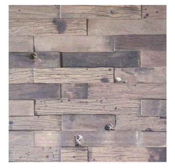 Dřevěná lodní mozaika - obkladová dlaždice 30 x 30 cm_model SHW 3233 1
