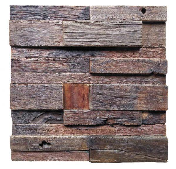 Dřevěná lodní mozaika - obkladová dlaždice 30 x 30 cm_model SHW 3234 1