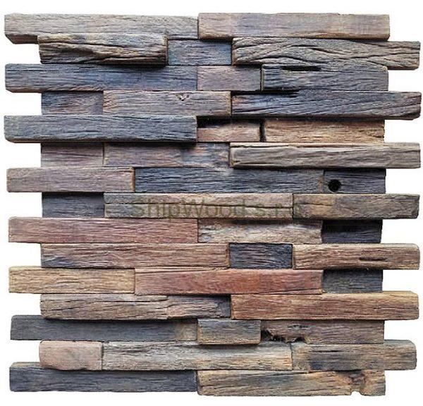 Dřevěná lodní mozaika  - obkladová dlaždice 30 x 30 cm_model SHW 3235T 1