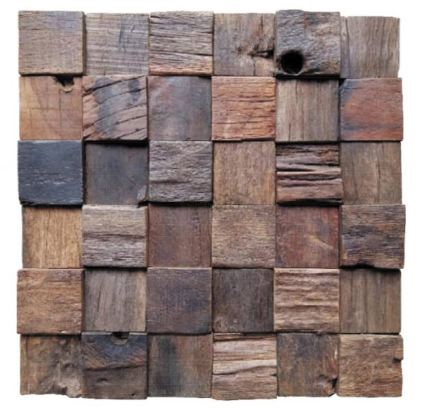 Dřevěná lodní mozaika - obkladová dlaždice 30 x 30 cm_model SHW 3267 1