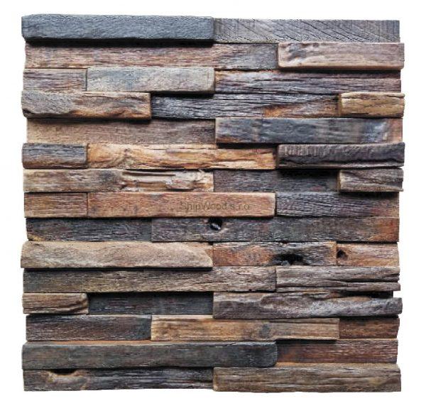 Dřevěná lodní mozaika - obkladová dlaždice 30 x 30 cm_model SHW 3237 1