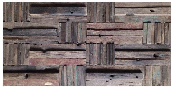 Dřevěná lodní mozaika - obkladová dlaždice 60 x 30 cm_model SHW 6251_model SHW 6251 1