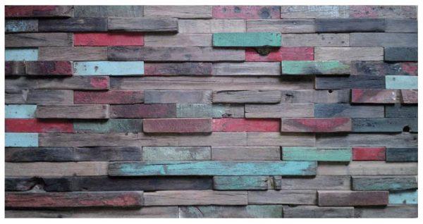 Dřevěná lodní mozaika  - obkladová dlaždice 60 x 30 cm_model SHW 6279 1