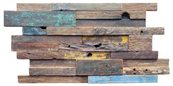 Dřevěná lodní mozaika - obkladová dlaždice 60 x 30 cm_model SHW 6252T 1
