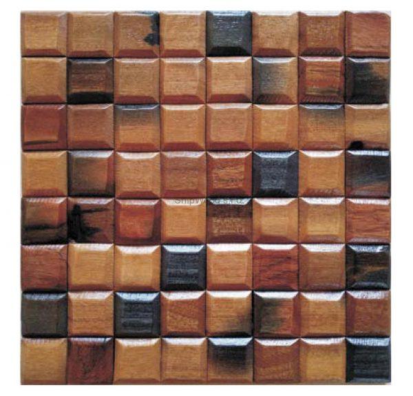 Dřevěná lodní mozaika - obkladová dlaždice 30 x 30 cm_model SHW 3116 1