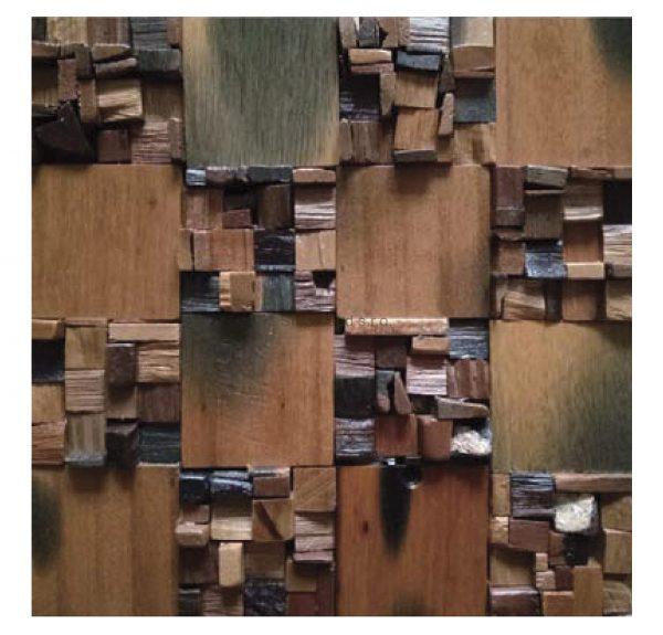 Dřevěná lodní mozaika - obkladová dlaždice 30 x 30 cm_model SHW 3117 1
