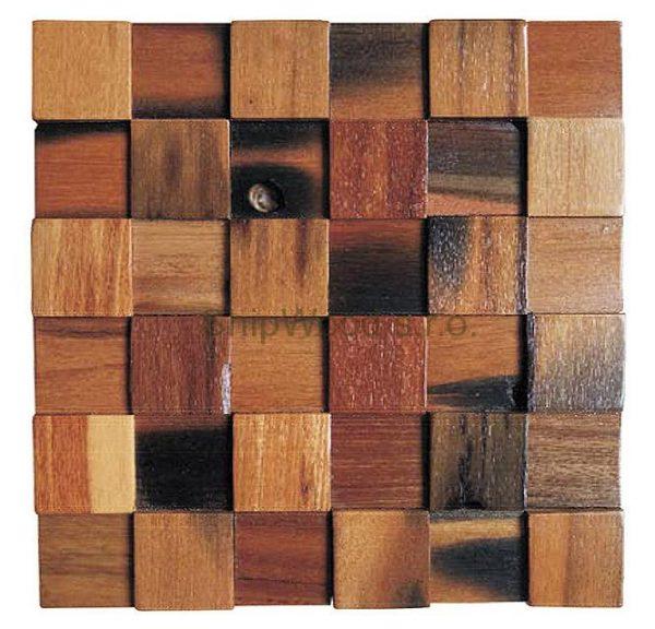Dřevěná lodní mozaika - obkladová dlaždice 30 x 30 cm_model SHW 3103 1