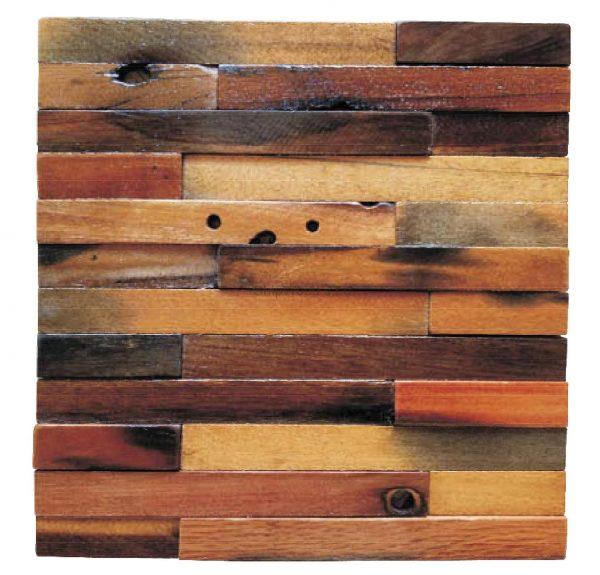 Dřevěná lodní mozaika  - obkladová dlaždice 30 x 30 cm_model SHW 3182 1