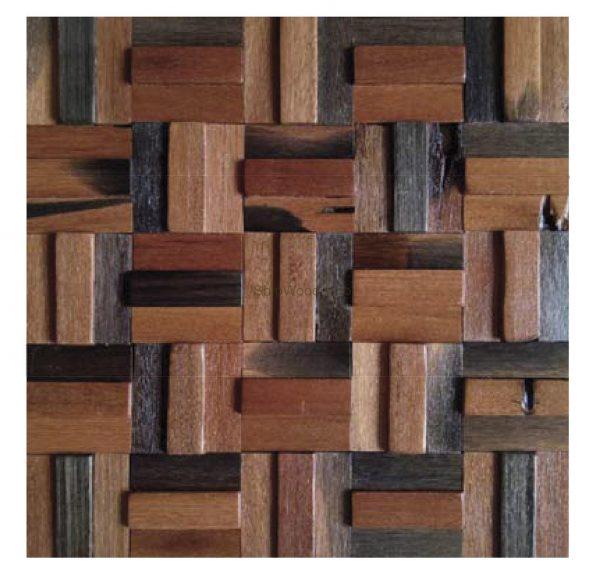 Dřevěná lodní mozaika - obkladová dlaždice 30 x 30 cm_model SHW 3183 1