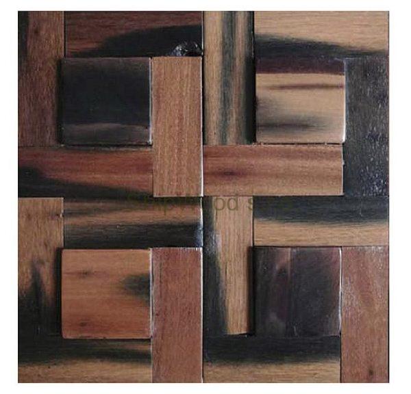 Dřevěná lodní mozaika - obkladová dlaždice 30 x 30 cm_model SHW 3104 1