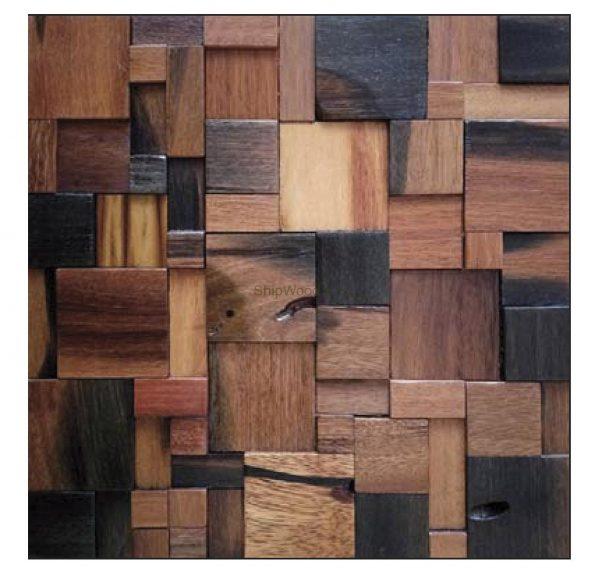 Dřevěná lodní mozaika - obkladová dlaždice 30 x 30 cm_model SHW 3114 1