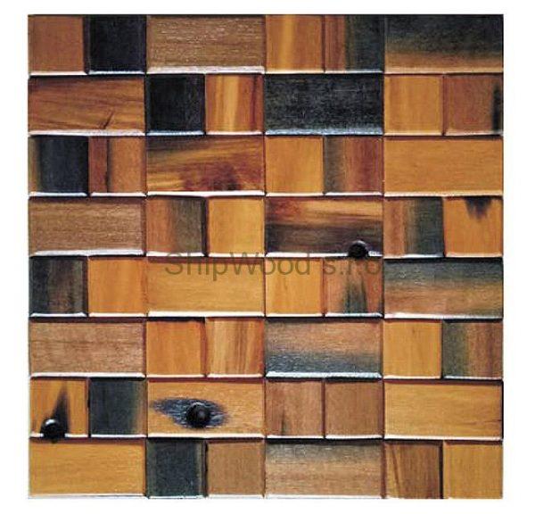 Dřevěná lodní mozaika - obkladová dlaždice 30 x 30 cm_model SHW 3115 1