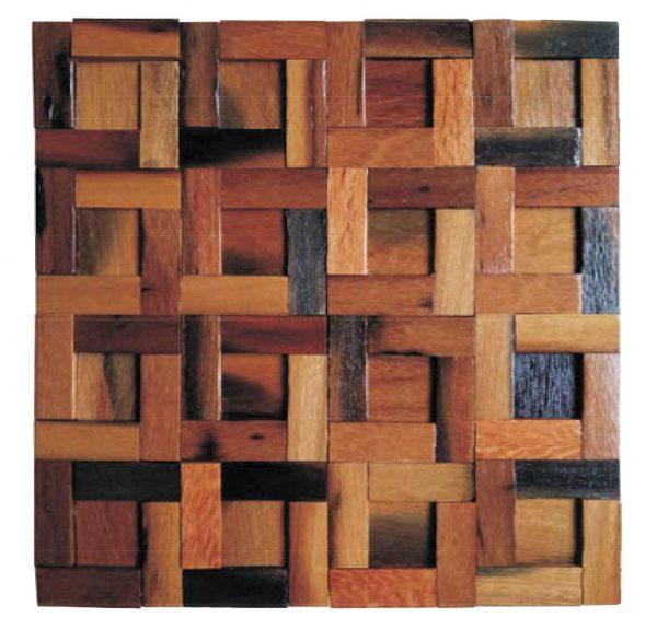Dřevěná lodní mozaika - obkladová dlaždice 30 x 30 cm_model SHW 3123 1