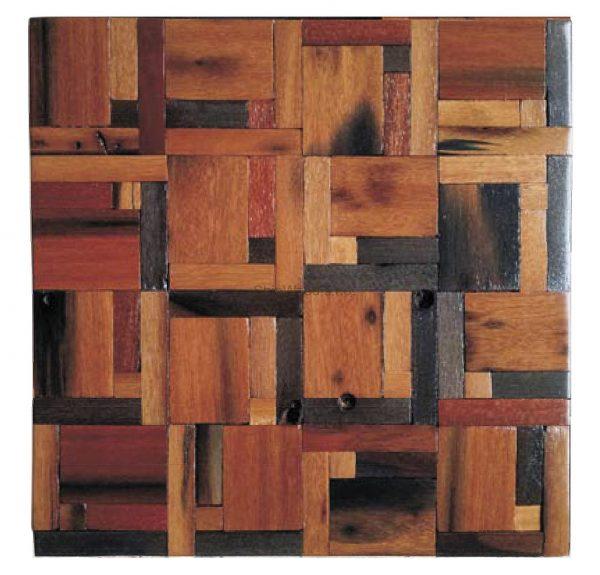 Dřevěná lodní mozaika - obkladová dlaždice 30 x 30 cm_model SHW 3124 1