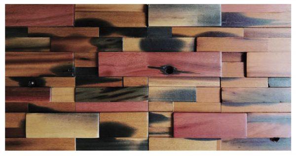 Dřevěná lodní mozaika  - obkladová dlaždice 60 x 30 cm_model SHW 6112 1