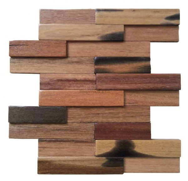 Dřevěná lodní mozaika - obkladová dlaždice 30 x 30 cm_model SHW 3192T 1
