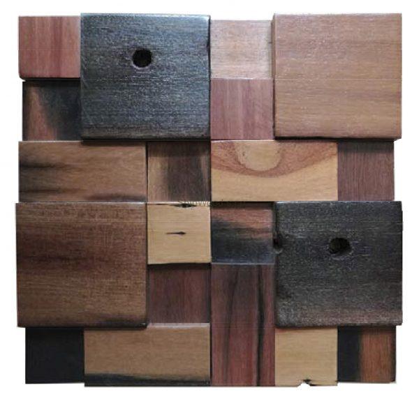 Dřevěná lodní mozaika - obkladová dlaždice 30 x 30 cm_model SHW 3196 1