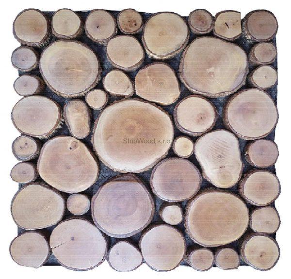 Dřevěná mozaika Litchy wood - kazeta 30 x 30 cm 1