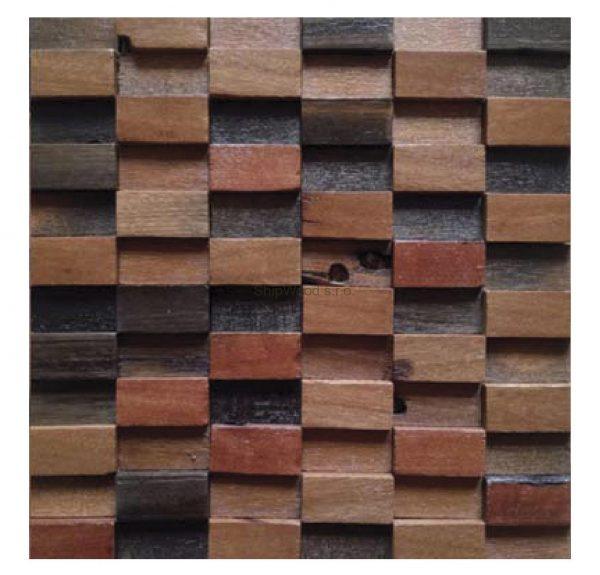 Dřevěná lodní mozaika  - obkladová dlaždice 30 x 30 cm_model SHW 3198 1