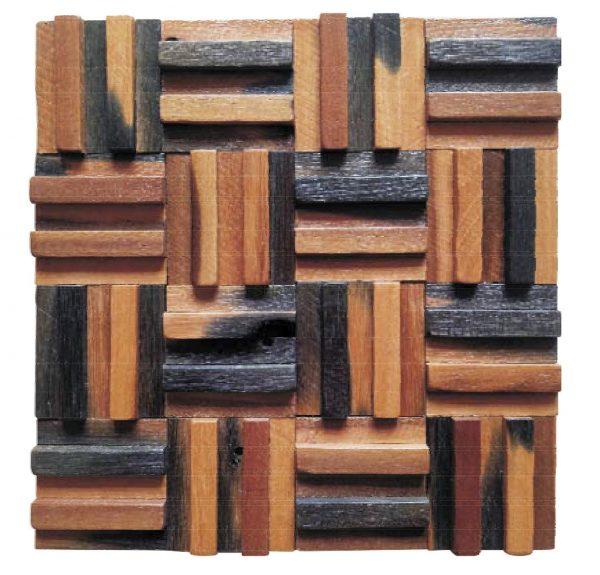 Dřevěná lodní mozaika - obkladová dlaždice 30 x 30 cm_model SHW 3199 1