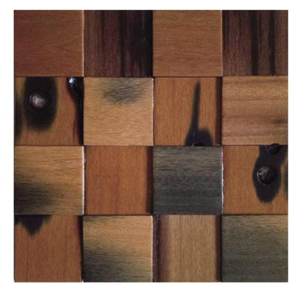 Dřevěná lodní mozaika - obkladová dlaždice 30 x 30 cm_model SHW 3110 1