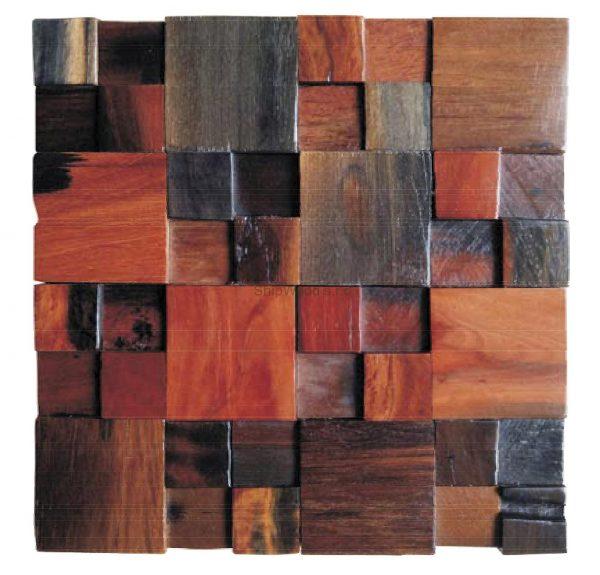 Dřevěná lodní mozaika  - obkladová dlaždice 30 x 30 cm_model SHW 3130 1