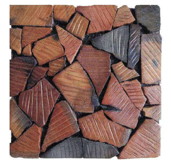 Dřevěná lodní mozaika  - obkladová dlaždice 30 x 30 cm_model SHW 3264 1