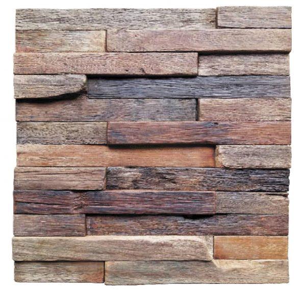 Dřevěná lodní mozaika - obkladová dlaždice 30 x 30 cm_model SHW 3229 1