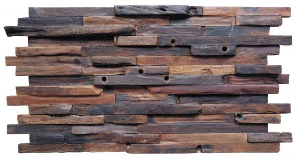 Dřevěná lodní mozaika - obkladová dlaždice 60 x 30 cm_model SHW 6249T 1