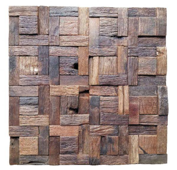 Dřevěná lodní mozaika  - obkladová dlaždice 30 x 30 cm_model SHW 3270 1