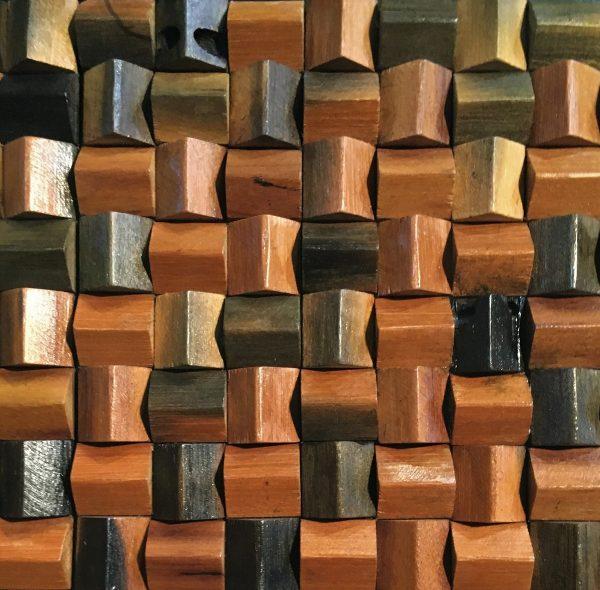 Dřevěná lodní mozaika - obkladová dlaždice 30 x 30 cm_model SHW 3160 1