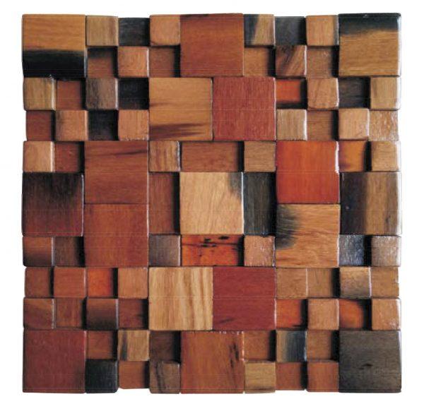 Dřevěná lodní mozaika - obkladová dlaždice 30 x 30 cm_model SHW 3125 1