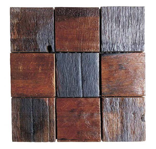 Dřevěná lodní mozaika - obkladová dlaždice 30 x 30 cm_model SHW 3228 1