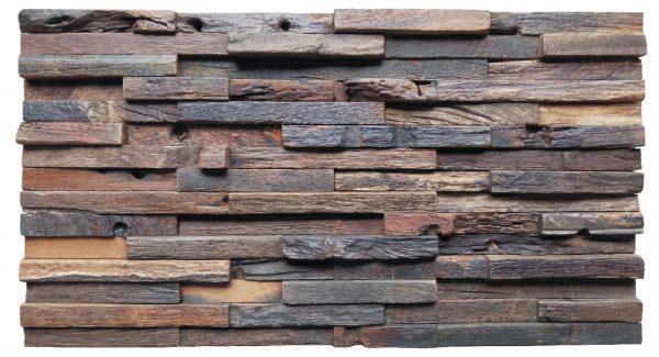 Dřevěná lodní mozaika - obkladová dlaždice 60 x 30 cm_model SHW 6275 1