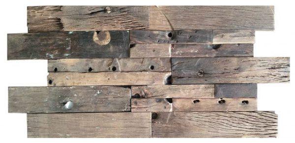 Dřevěná lodní mozaika  - obkladová dlaždice 60 x 30 cm_model SHW 6274T 1